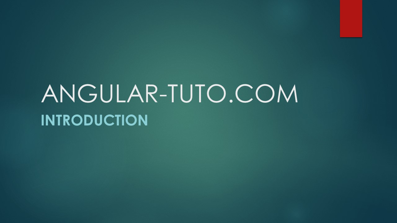 Angular tutoriel