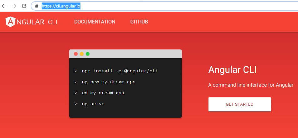 Installation Angular CLI